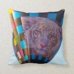 Hot Air Balloon, Snow Leopard, Olathe, Kansas Pillow
