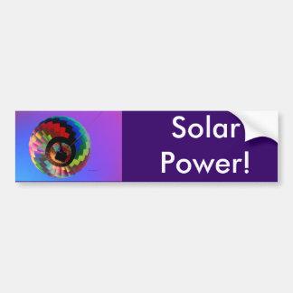 Hot air Balloon Solarized! Bumper Sticker