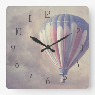 Hot Air Balloon Square Wall Clock