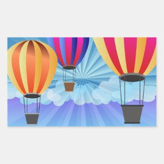hot air balloon rectangular sticker