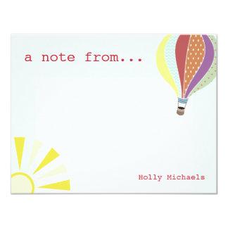 Hot Air Balloon & Sun Flat Notecard