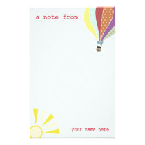 Hot Air Balloon & Sun Stationery