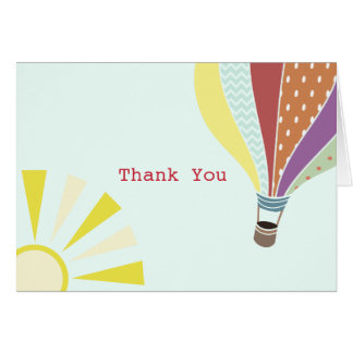 Hot Air Balloon Thank You Card