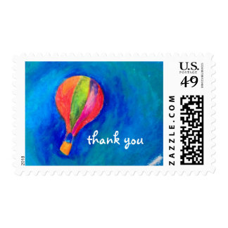 Hot Air Balloon Thank You Postage Stamp customize