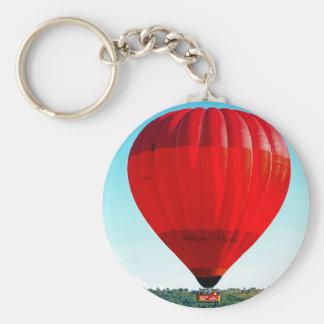 Hot air balloon to celebrate life basic round button keychain
