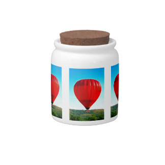 Hot air balloon to celebrate life candy jar