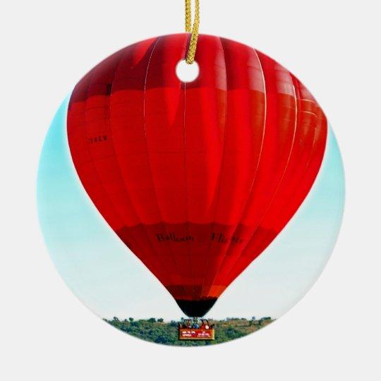 Hot air balloon to celebrate life ceramic ornament