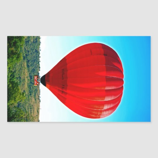 Hot air balloon to celebrate life rectangular sticker