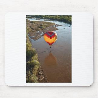 Hot Air Balloon Touching Rio Grande River Mouse Pad