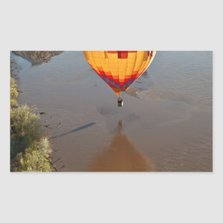 Hot Air Balloon Touching Rio Grande River Rectangular Sticker