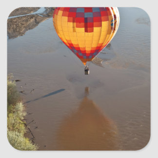 Hot Air Balloon Touching Rio Grande River Square Sticker