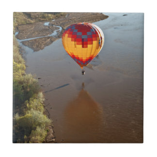 Hot Air Balloon Touching Rio Grande River Tile