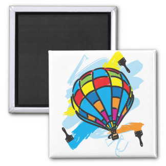 Hot_Air_Balloon_Trip 2 Inch Square Magnet