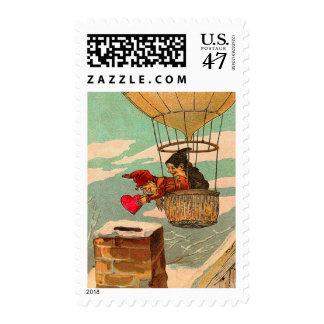 Hot Air Balloon Valentine Postage