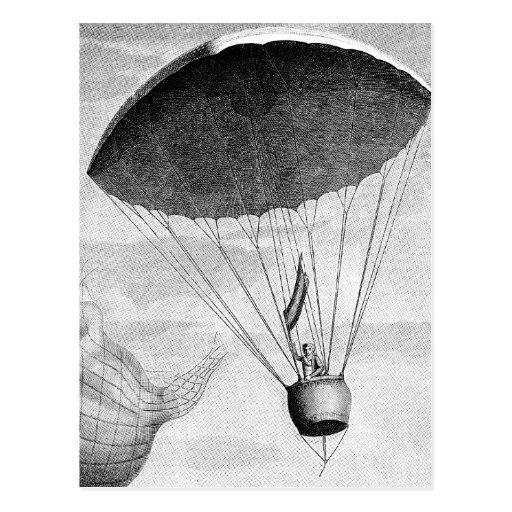 Hot Air Balloon Vintage Eighteenth Century Postcard