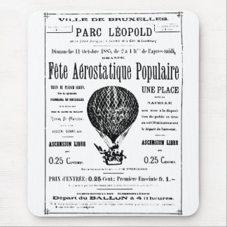 Hot air balloon vintage mouse pad