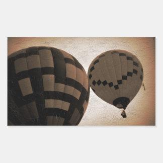 Hot Air Balloon Vintage Photograph Rectangular Sticker