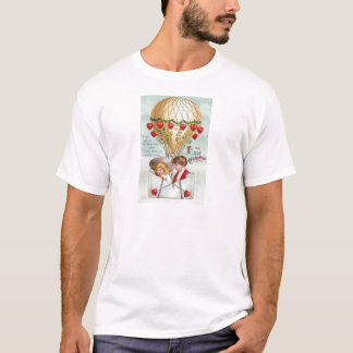 Hot Air Balloon Vintage Valentine T-Shirt