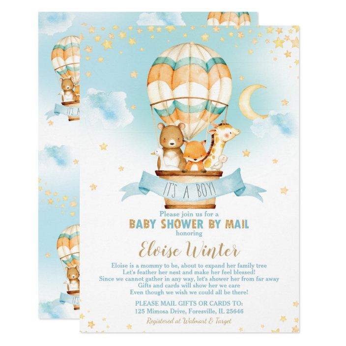 Hot Air Balloon Virtual Baby Boy Shower