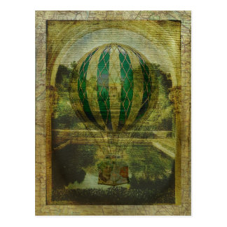 Hot Air Balloon Voyage Postcard