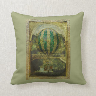 Hot Air Balloon Voyage Throw Pillow