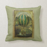 Hot Air Balloon Voyage Throw Pillows