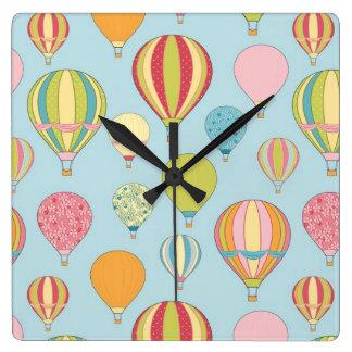 Hot Air Balloon Wall Clock