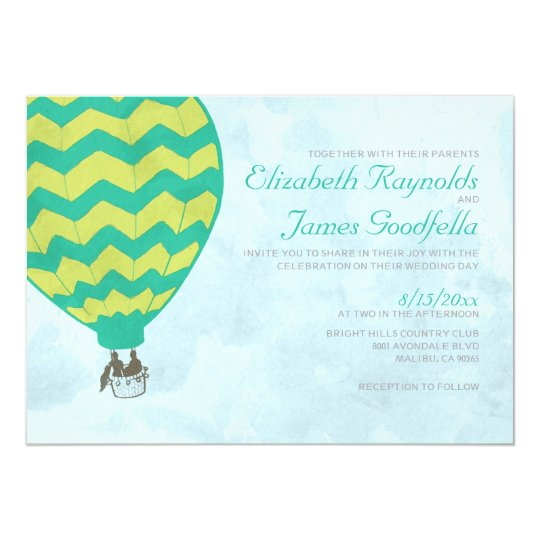 Hot Air Balloon Wedding Invitations