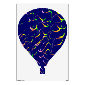 Hot Air Balloon (Wing Pattern B1) Wall Sticker