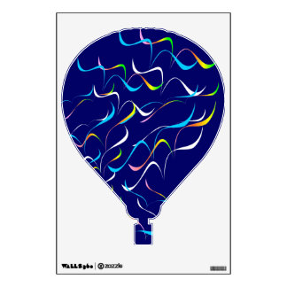 Hot Air Balloon (Wing Pattern) Wall Decal