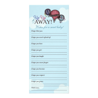 Hot air balloon - Wishes for baby memory note Rack Card
