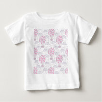 Hot air balloon with party balloons in pink baby T-Shirt