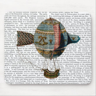 Hot Air Balloon With Tail Feather Mouse Pad