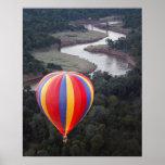 Hot-Air Ballooning over the Mara River Poster