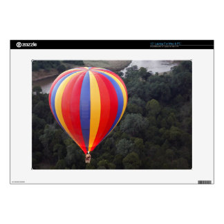 Hot-Air Ballooning over the Mara River Skin For Laptop