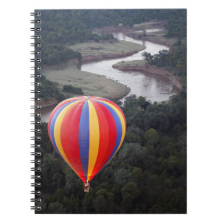 Hot-Air Ballooning over the Mara River Spiral Notebook