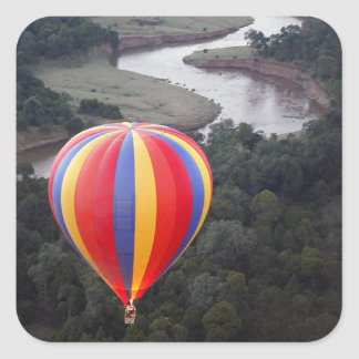 Hot-Air Ballooning over the Mara River Square Sticker