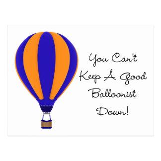 Hot Air Balloonist Postcard