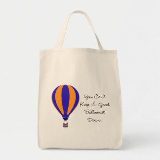 Hot Air Balloonist Saying Tote Bag