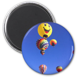 Hot air balloons 2 inch round magnet
