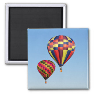 Hot Air Balloons 2 Inch Square Magnet