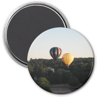 Hot Air Balloons 3 Inch Round Magnet