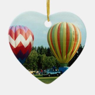 Hot Air Balloons (5) Ceramic Ornament