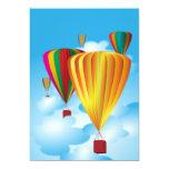 Hot air balloons 5x7 paper invitation card