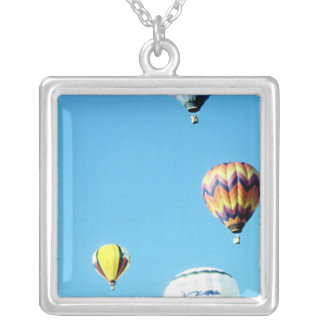 Hot Air Balloons (6) Square Pendant Necklace