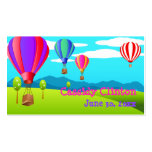 Hot Air Balloons 6th Birthday Party Favor Tag Business Cards