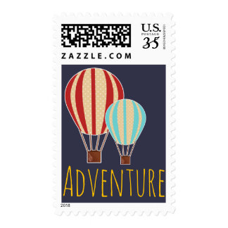Hot Air Balloons Adventure Postage
