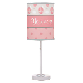 Hot Air Balloons and Polka Dots Personalized Desk Lamp