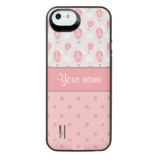 Hot Air Balloons and Polka Dots Personalized iPhone SE/5/5s Battery Case