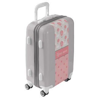 Hot Air Balloons and Polka Dots Personalized Luggage